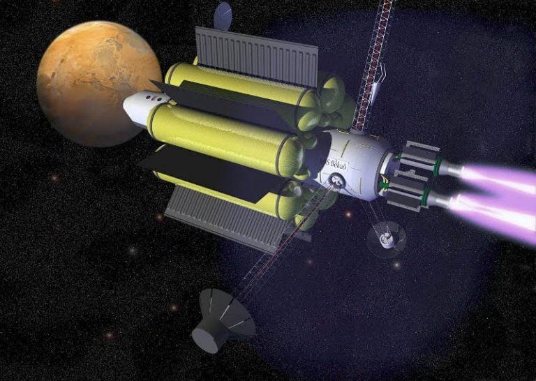 Visión artística de una nave VASIMR (NASA).