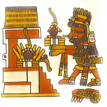 El dios azteca Xiuhtecuhtli