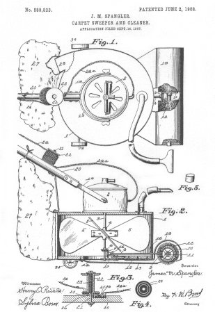 Patente de la aspiradora de Spangler.