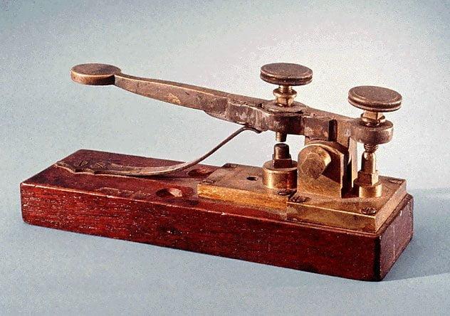 Interruptor del telégrafo de Morse