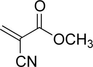 Estructura del metil 2-cianoacrilato