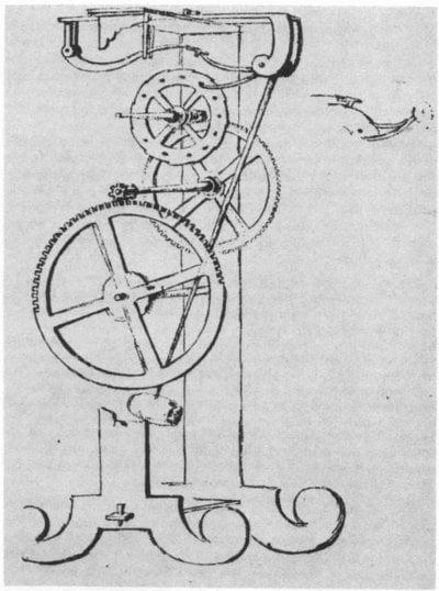 Diseño del reloj de péndulo de Galileo