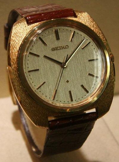 El primer reloj de pulsera de cuarzo