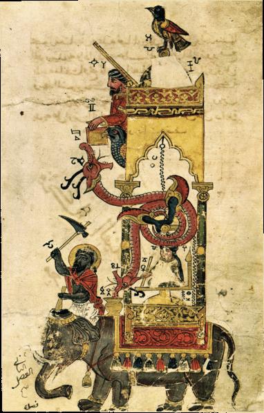 Reloj del elefante de Al-Jazari.