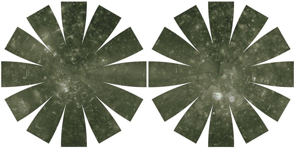 Mapa mosaico de Calisto